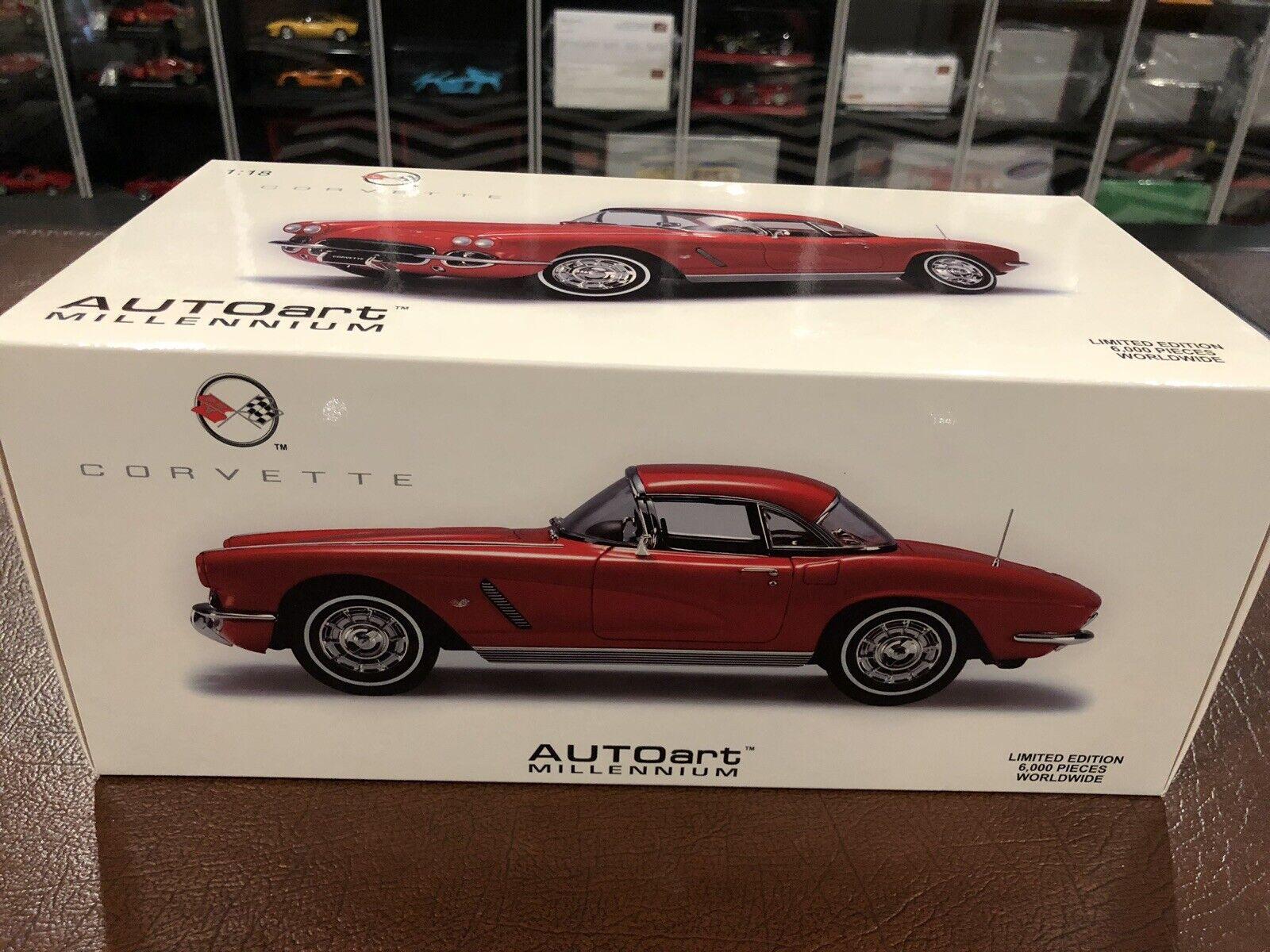 1 18 Autoart 1962 Chevrolet Corvette, NEW, Factory Sealed, RARE