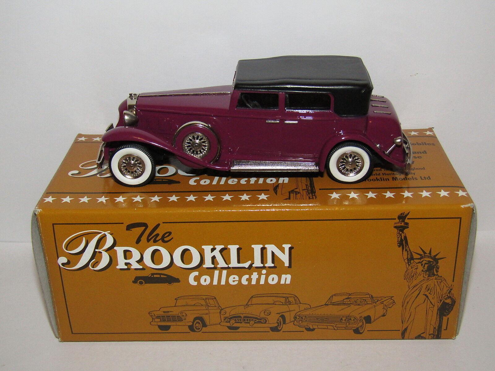 Brooklin models 1931 MARMON SIXTEEN Convertible Sedan Magenta 1 43 BRK96