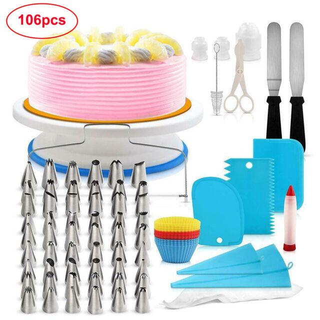 Cake Decorating Tools /& More Cake Turntable Cake Decorating Kit Baking Supplies Piping Bags -Russian Piping Tips Set Cake Decorating Supplies Piping Bags And Tips Cupcake Decorating Kit