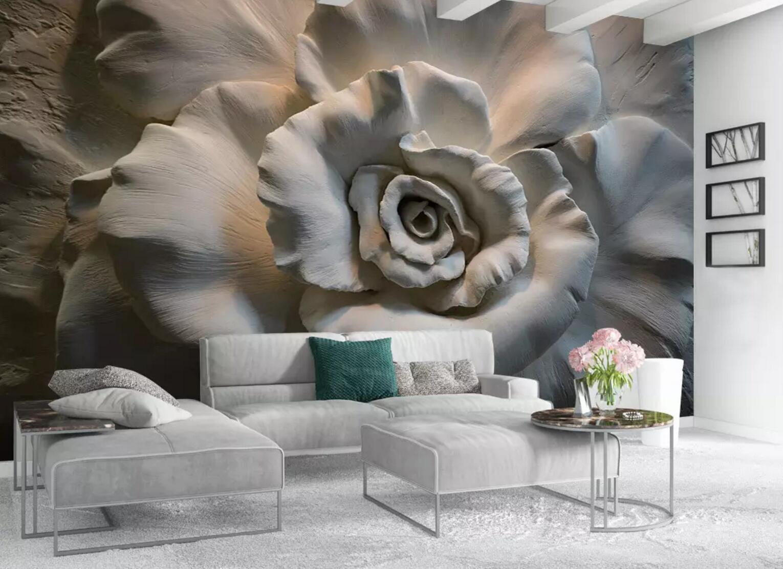 3D Große Blaume 56 Mauer Papier Exklusiv MXY Fototapete Abziehbild Innen Mauer