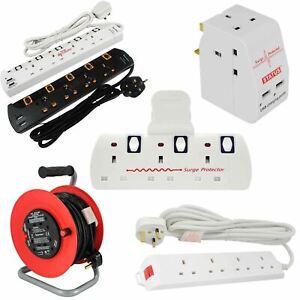 Enchufe-Multi-Extension-Lead-2-3-4-5-Gang-Way-Reino-Unido-Toma-De-Corriente-Cable-Adaptadores-De