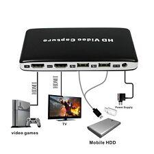 HDMI HD USB TV DVD Blu-ray Recorder Game Video Capture Box 1080P Fo PS4 XBOX Wii