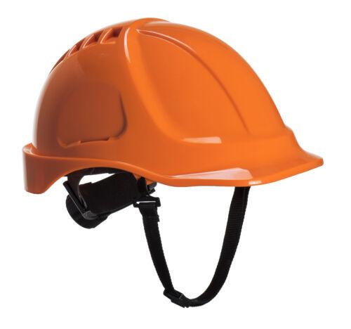 PortWest Unisex Endurance Plus Helmet Navy// Orange// White// Yellow PS54