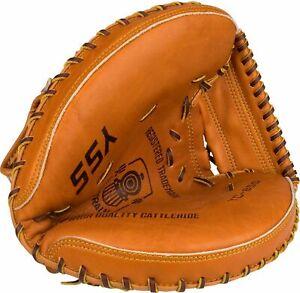 Baseball Glove Catcher Left Light Brown Les Couleurs Sont Frappantes