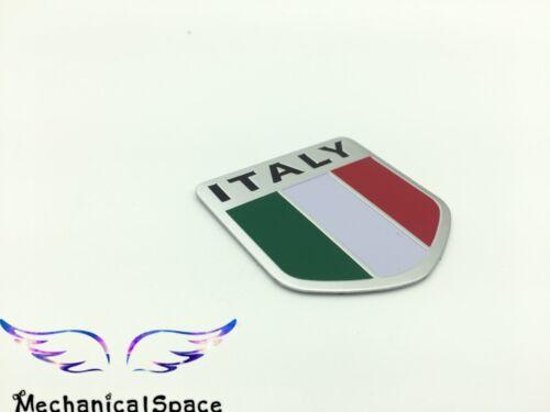 """3D Aluminum Alloy ITALY Flag 1.75/""""x 1.75/"""" Metal Emblem Sticker Decal For Car"""