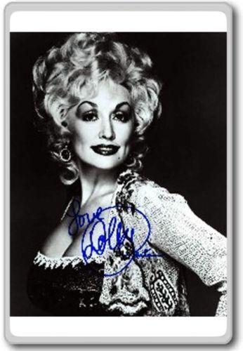 Dolly Parton Autographed Preprint Signed Photo Fridge Magnet