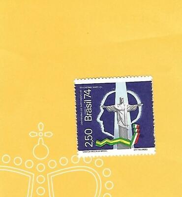 """Herzhaft Brasilien 1974 - Postfrisch**mnh - Minr.1430 """"100,geburtstag G.marconi-christus"""""""