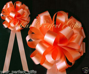ORANGE-WEDDING-8-034-BIG-PULL-PEW-BOW-BRIDAL-CAKE-GIFT