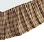 BROWN BLACK PLAID CHECK COTTAGE COUNTRY DUST RUFFLE SKIRT WYATT King BEDSKIRT