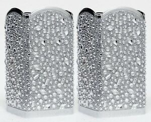 2-Bath-amp-Body-Works-SILVER-TOSSED-GEM-DIAMOND-Foaming-Hand-Soap-Holder-Sleeve