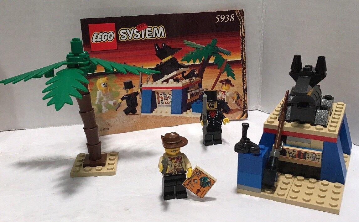 Lego Adventurers 5938  Oasis Ambush Sphinx Sphinx Sphinx Secret Surprise Complete instructions 12396e