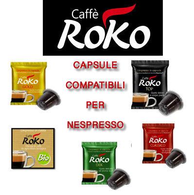 100 Capsule Caffè Roko compatibili Nespresso miscela Classica Cialde Caffè