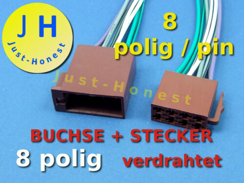 Presa ISO connettore 8 Poli//WAY cablate volte female connector Wired #a296