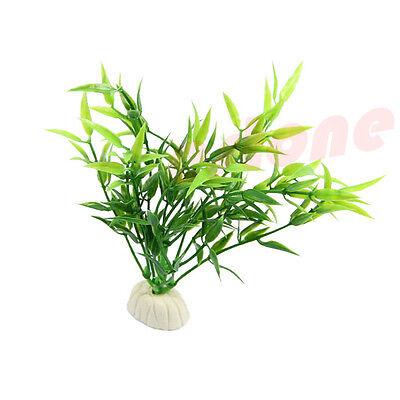 Simulated Green Bamboo Leaf Plant Grass Aquarium Fish Tank Decoration