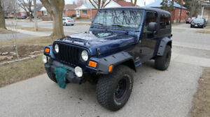 Jeep TJ Unlimited for sale.