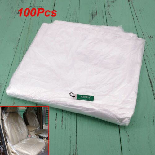 bodyshops to protect valets 100x Disposable Plastic Car Seat Covers on a Roll