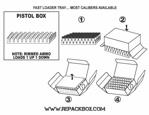 9 Pistol Calibers Holds 50 Rounds REPACKBOX 3 SAMPLE BOXES