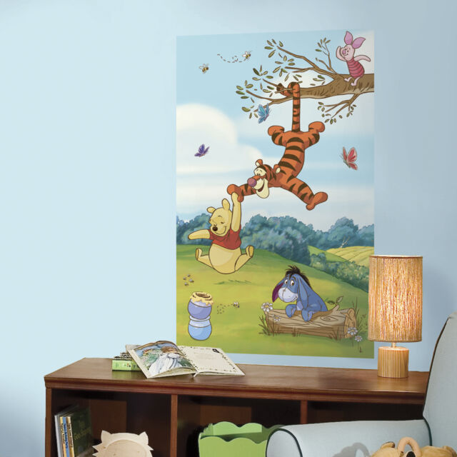 Winnie The Pooh 3 X 5 Peel And Stick Wall Decal Mural Nursery Or Bedroom Decor