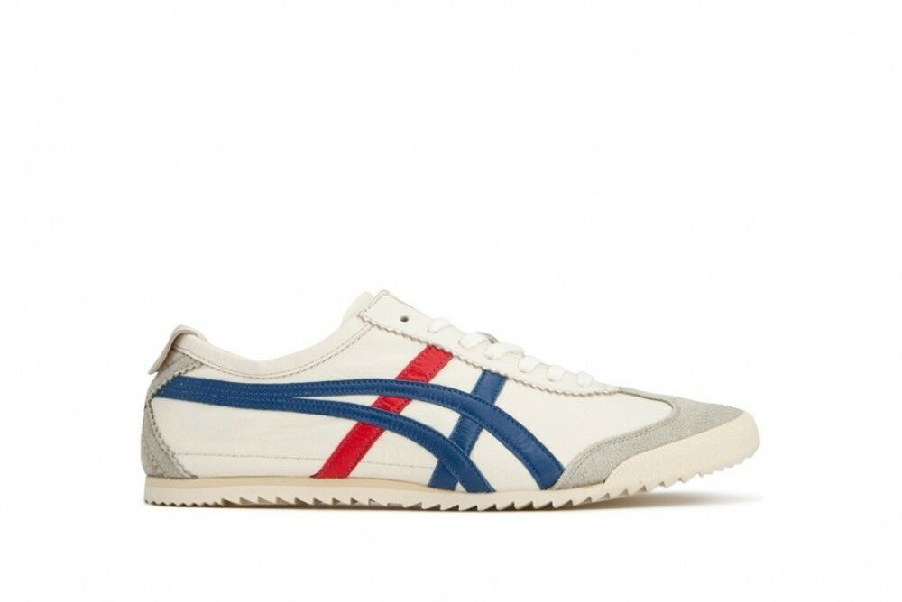 Asics Japan Onitsuka Tiger MEXICO 66 DELUXE F/S TH938L White × Blue F/S DELUXE 34e961