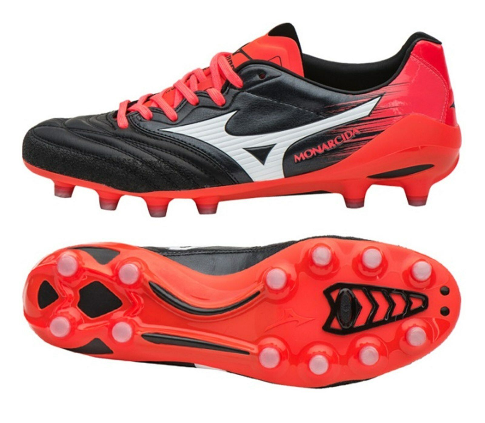 Mizuno Men Monarcida 2 Neo MD Cleats Soccer Football ROT Schuhes Spike P1GA172001