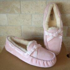 250a32a3ae7 UGG Yvett Chemise Pink Sheepskin Puff Womens Wedge Slippers Size 11 ...