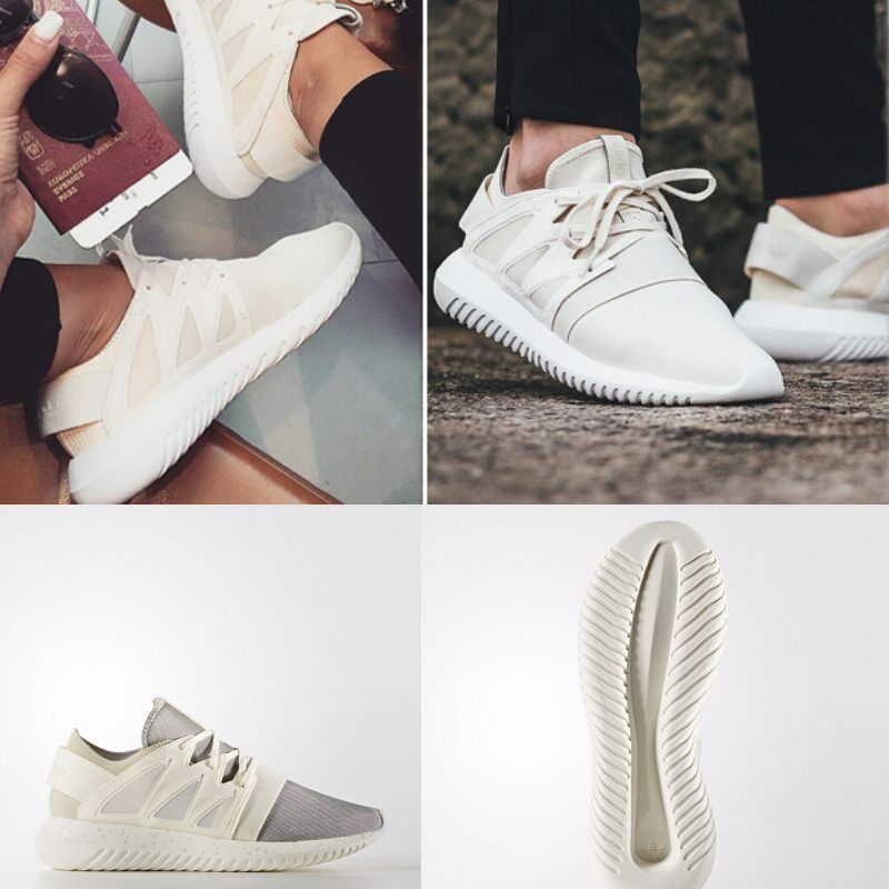 info for a257e de2fb ADIDAS Tubular Viral Chalk Running Shoes Sneakers Size 5-13 White S75914