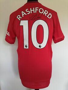 Manchester United Number 10 Home Man Utd Shirt Signed Marcus Rashford