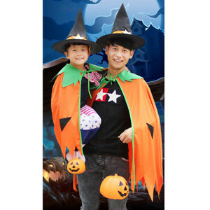 Halloween-Pumpkin-Cloak-Cape-Cosplay-Costume-Home-Party-Role-Play-Fancy-Dress