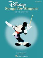 Disney Songs For Singers Low Voice Edition Vocal Collection 000740296