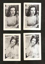 1940-41 MGM Movies~4 cards~HEDY LAMARR & MAUREEN O'SULLIVAN ~ZIEGFELD GIRLS &