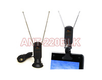 Portable Indoor/outdoor Mini Tv Antenna With Detachable Suction/clip Mount