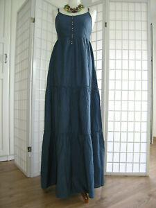 H&M romantisches Maxikleid Boho Kleid Trägerkleid lang ...