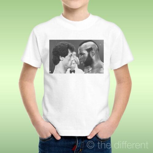 T-Shirt Bambino Ragazzo Rocky Balboa Sfida Boxe Mr.T  Idea Regalo
