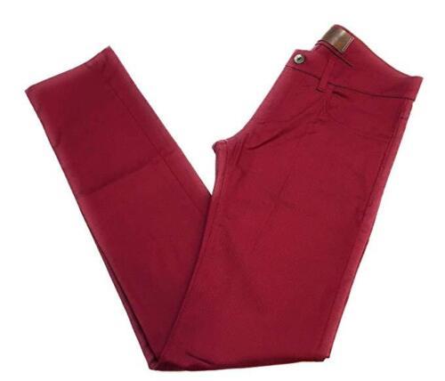 Dolce /& Gabbana Mens Denim Stretch Luxury Pants Burgundy