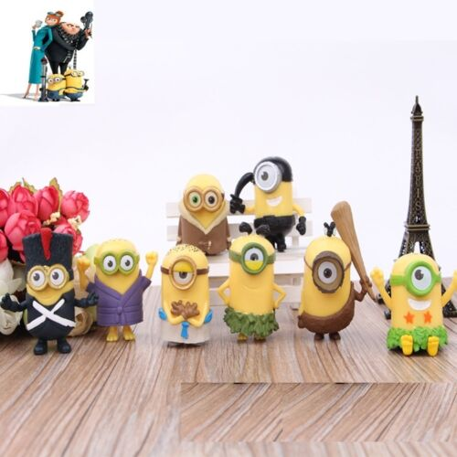 Despicable Me Minions Movie Action Figures Character Doll Toy Set of 8pcs 2.5''