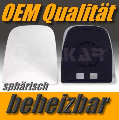 Glace polie Iveco Daily 2006-11 gauche chauffable convexe rétroviseur extérieur côté conducteur