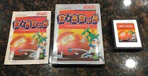 Dig-Dug-Atari-2600-1983-Tested-Complete-Fast-Free-Shipping-CIB