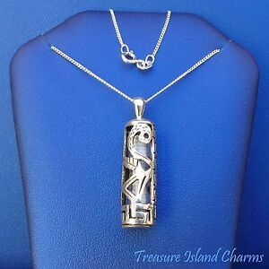 charm with prayer in sterling silver Chai Mezuzah pendant