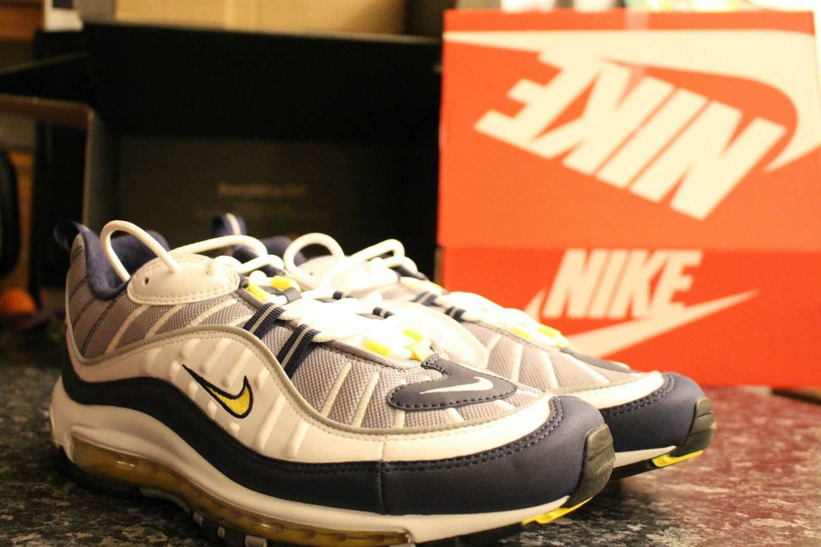 Nike Air Max 98 OG Tour Yellow Size UK 10  902dc36b2
