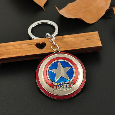 The Avengers Marvel Character Captain America Thor Hulk Hero KeyChain Keyrings