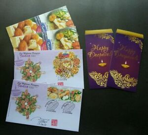 SJ-Malaysia-Indian-Festival-Food-2017-Cuisine-Delight-Diwali-FDC-pair-signed