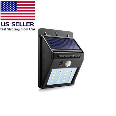100LED Solar Power PIR Motion Sensor Wall Light Outdoor Lamp Waterproof  KY