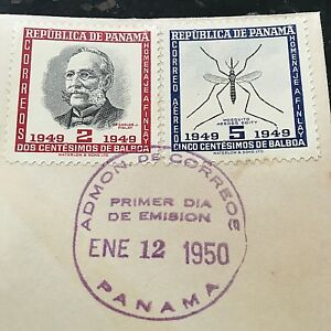 Carlos-Finlay-MD-amp-Yellow-Fever-Panama-First-Day-Cover-Stamps-RARE-Issue-Sale