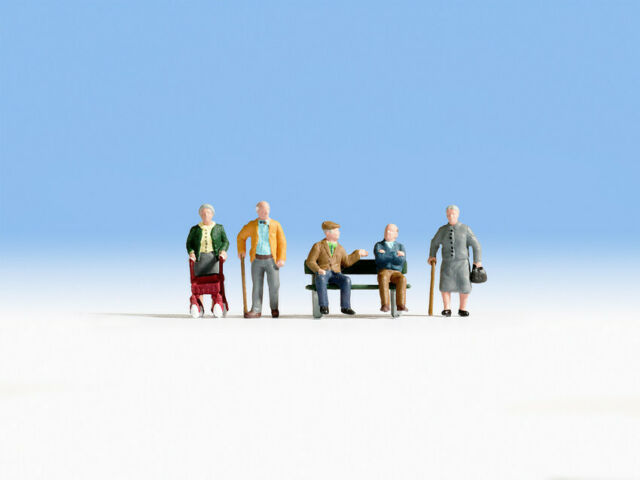 HO Scale people - 15551 - Senior Citizens
