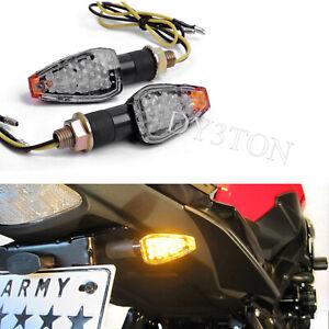 4X Black Amber 12V LED Indicators Set For Honda CB1000R CB600F 07 08 09 10 11