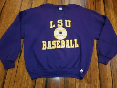 Vtg 1980s LSU Tigers baseball Jerzees Russell Swe… - image 1