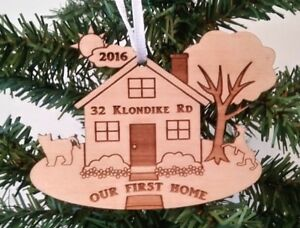 Our First Home Christmas Ornament.Details About Our First Home Christmas Ornament Dog Cat Name Year W Gift Box