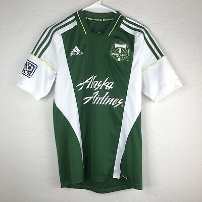 Dark Green MLS Portland Timbers Adult Men Tail Stack Tri-Blend L//S Tee Small