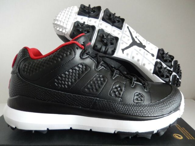 best service 0de30 0c69f Nike Air Jordan Retro 9 IX Bred 833798-002 Golf Cleat Black Red White Sz 8.5