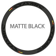 MAVIC COSMIC CARBONE ULTIMATE MATTE BLACK REPLACEMENT RIM DECALS FOR 2 RIM